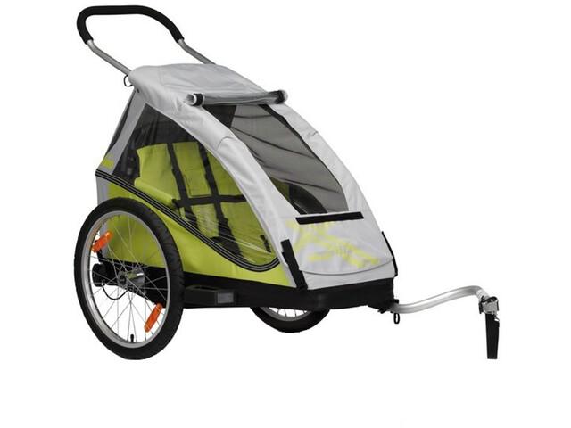 XLC Mono Cykelanhænger til børn sølv/citron (2019) | bike_trailers_component